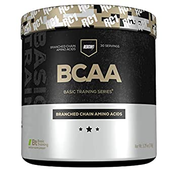 Redcon1 - BCAA Branched Chain Amino Acids 30 Servings 2 1 1 L-Leucine L-IsoLeucine L-Valine Mix with Any Drink Unflavored - Basic Training Series