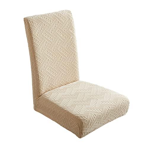 Baoblaze Fodere Elastiche per sedie per sedie da Pranzo Fodere Decorative per sedie da Sala da Pranzo Fodere per sedie da Cucina Lavabili per Sala da Pranzo, Champagne