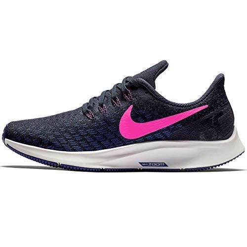 Nike Women's Air Zoom Pegasus 35, Obsidian/Pink Blast/Deep Royal Blue, 6.5 B US