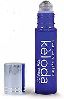 KELODA Scar & Keloid Removal Tea Tree Oil & Massager, 0.3 oz | For Treatment of Surgical Scars & Piercing Keloids, Acne & Burns | With Anti-Scar Cocoa, Shea Butter, Coconut and Lavender Essential Oils