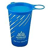 Tomshin Copo de água macia dobrável grátis de BPA 200ml para esportes ao ar livre Maratona de ciclismo, acampamento, corrida