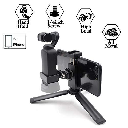 elegantstunning for DJI Osmo Pocket Joystick Mobile Phone Suction Cup Rocker Protector Bracket Handheld Gimbal Accessories Folding Suction Cup Bracket