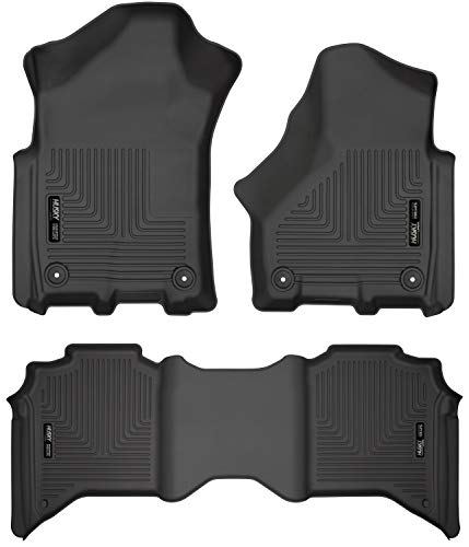 Husky Liners Fits 2019 Dodge Ram 2500 Crew Cab Weatherbeater Front & 2nd Seat Floor Mats