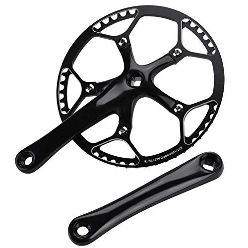 High Strength Bike Crank Arm, Repair Accessory Bicycle Crankset, DIY Chain Arm Set Labor-saving Road Bike for Mountain Bike(full black)