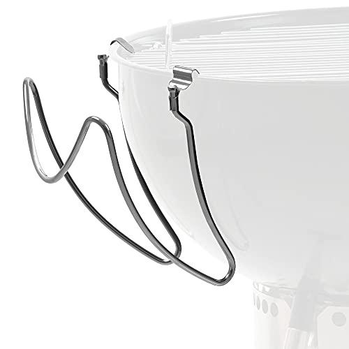 BBQ-Toro Edelstahl Universal Deckelhalter für Kugelgrill | Deckelhalter für 47 cm und 57 cm Kugelgrill | Grill Deckelhalter Edelstahl | Kugelgrill Zubehör, Grillzubehör