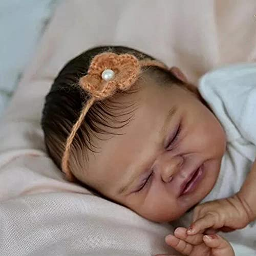 JinYiZhaoMing Reborn Dolls Kit,17 pulgadas, 600G realista bebé niña muñeca enraizada ropa suave vinilo silicona muñeca recién nacido