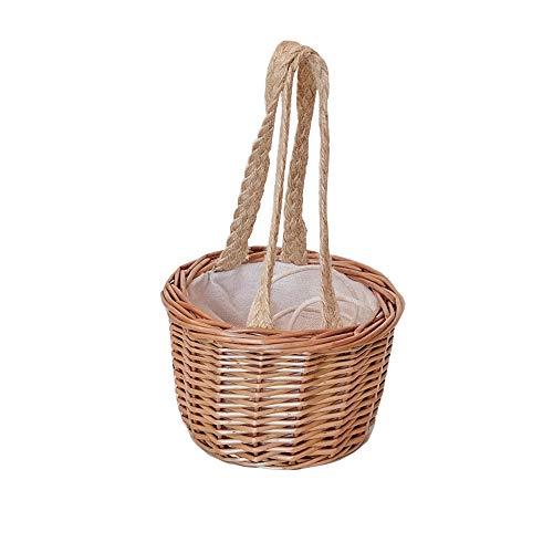 Basket Mini Bolso de Paja de Mimbre Tejido a Mano