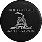 Caps Supply Liberty or Death Don't Tread on Me Snake Diamond Plate Spare Tire Cover (Fits: Jeep JK Sport Sahara) 255/75R17 Size 32 Inch