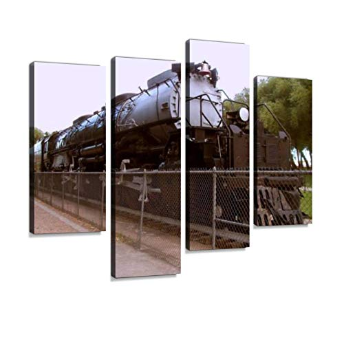 Union Pacific's Big Boy 4014 Steam Locomotive Canvas Wall Art Hanging Paintings Modern Artwork Abstract Picture Prints Home Decoration Gift Unique Designed Framed 4 Panel -  Weone Artwork