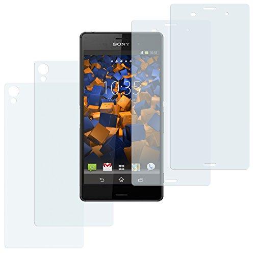 mumbi Schutzfolie kompatibel mit Sony Xperia Z3 Folie klar, Bildschirmschutzfolie (4X)