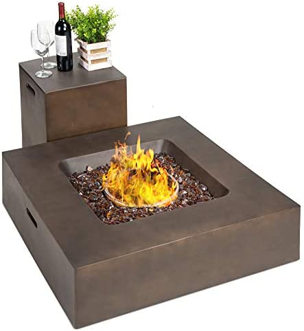 Best Choice Products 35x35 inch 40 000 BTU Square Propane Fire Pit Table for Backyard Poolside product image