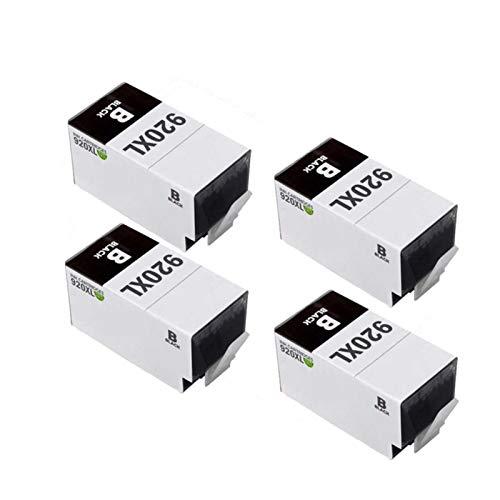 SXCD Cartuchos de Tinta 920xl, reemplazo de Cartucho Compatible para HP 6000 6500 6500A 6000 7000 7500 Cartuchos de Impresora de inyección de Tinta de Alta Capacidad Negr Black