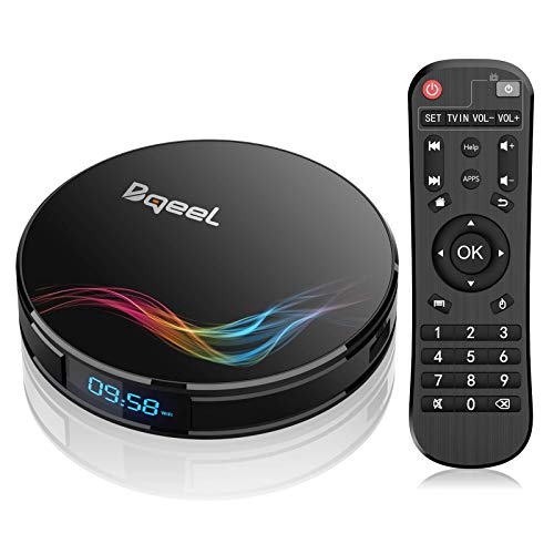 Bqeel Android 9.0 TV Box Y4 MAX / Amlogic S905X2 Quad Core / 4G DDR4+64G eMMC / Dual WIFI 2.4/5.8G + 100M LAN / tv box Bluetooth 4.0 / USB 3.0/ HDMI 2.1 /4K UHD Smart TV Box