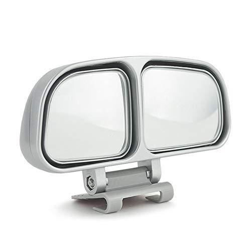 Universal Espejo de punto ciego cuadrado Auto Gran angular Espejo Auxiliar Retrovisor Espejo convexo doble Espejo retrovisor lateral Coche para estacionamiento