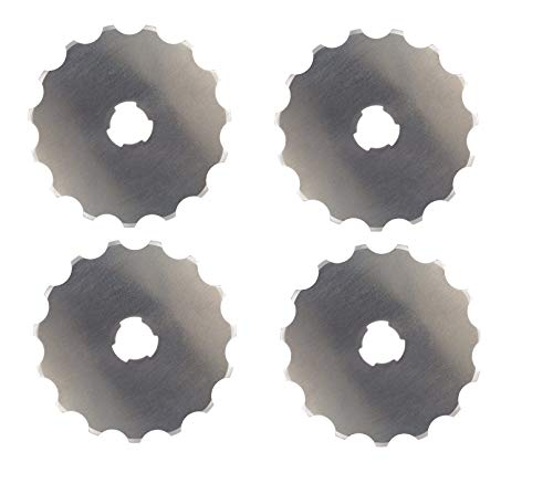 Fiskars 193610-1001 Perforating Rotary Replacement Blade, 45 mm, Sold as 4 Pack