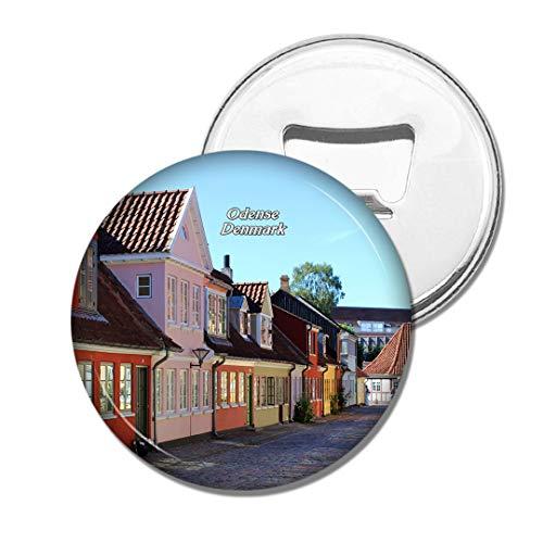 Weekino Dänemark Hans Christian Andersen Geburtsort Odense Bier Flaschenöffner Kühlschrank Magnet Metall Souvenir Reise Gift
