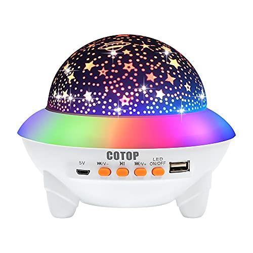 Proiettore stella luce notturna, Regalo di Natale per Bambini Lampada Proiettore Stelle Bambini con altoparlante musicale Bluetooth...