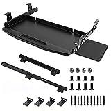 Keyboard Tray Under Desk,Heavy-Duty All-Metal 24/30 inches Platform Computer Drawer Organizer Home Office