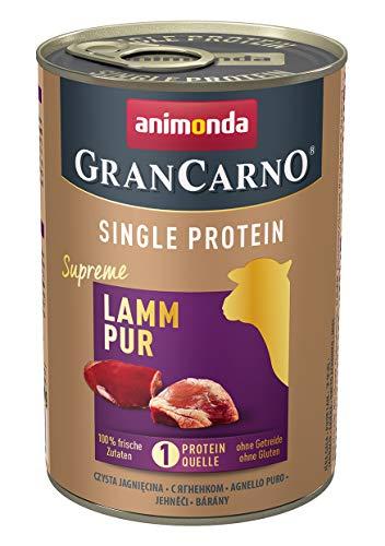 animonda Gran Carno adult Single Protein Hundefutter, Nassfutter für ausgewachsene Hunde, Lamm pur, 6 x 400 g, 6er Pack (6 x 0.4 kilograms)