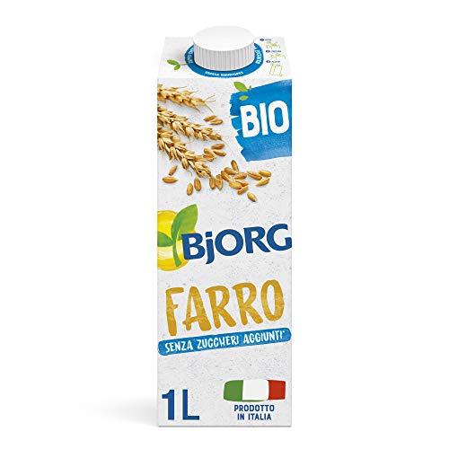 BJORG Bevanda di Farro Biologica con Calcio (1L) Senza Zuccheri Aggiunti