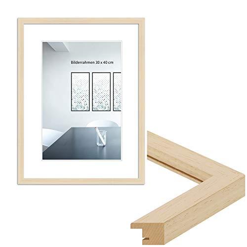 WANDStyle Marco de fotos moderno, 21 x 30 cm, DIN A4, color: natural, marco de fotos clásico, fabricado en Alemania, H950