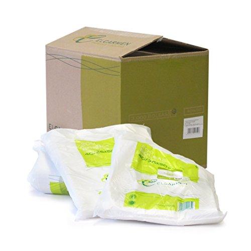 Papeles El Carmen Bolsa Tipo Camiseta, Blanco, 40x50cm, 200 Unidades