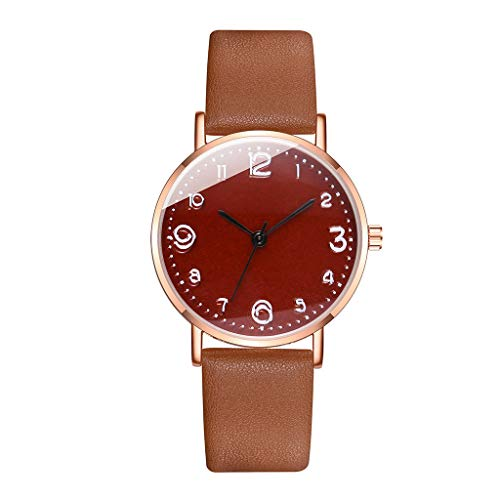 Fenverk Damen-Armbanduhr Analog Quarz Leder,Berlin Damen Analog Quarz Uhr mit Lederarmband,Damen-Armbanduhr Jacqueline Blush Leder(E)