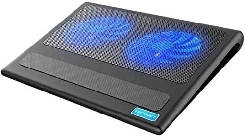 ZUIZUI Laptop y Cuaderno Almohadilla de enfriamiento 2 Ventilador Refrigerador para computadora portátil Adecuado para 9-16 Pulgadas PC portátil PC Pad de refrigeración