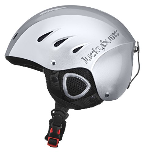 Lucky Bums Snow Sport Helmet with Fleece Liner, Silver, Large