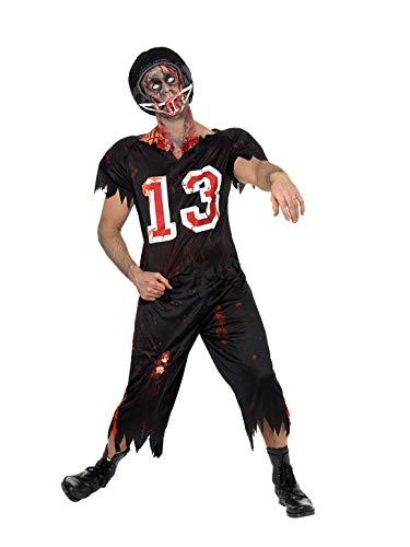 SMIFFYS Costume High School Horror Footballer Americano, comprende Top, Pantaloni e Casc