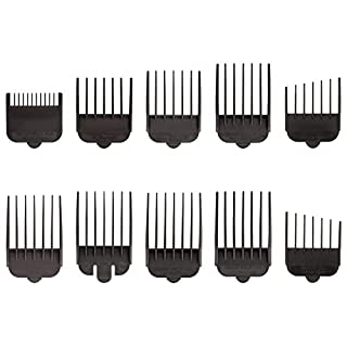 Wahl Professional Animal Attachment Guide Comb 10 Pack Grooming Set for Wahl's Show Pro Plus, Iron Horse, Pro Ion, U-Clip, Deluxe U-Clip Pet, Dog, Cat, Horse Clippers (#3173-500), Black (B00065XNMQ) | Amazon price tracker / tracking, Amazon price history charts, Amazon price watches, Amazon price drop alerts