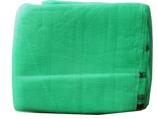 EXCOLO Gerüstnetz 3,07m x 10m Farbe hellgrün als Schutznetz Staubnetz Gerüstschutz Windfang Schattierung Windschutz Sonnenschutz Staubschutz
