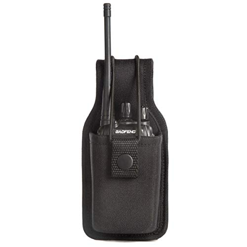 Universal Radio Case Two Way Radio Holder Universal Pouch for Walkie Talkies Nylon Holster for Motorola Kenwood Icom HYT Arcshell baofeng UV5R UV82 888S F8HP Retevis H777 (1 Pack)