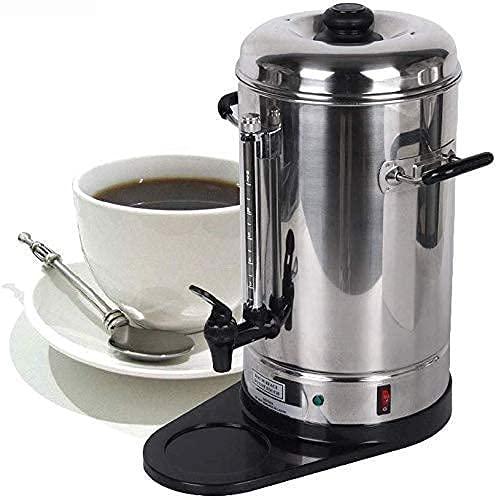 ROM Cafetera, Cafetera Automática de Acero Inoxidable, Cafetera Espresso con Filtro, Cafetera de Goteo / 6L
