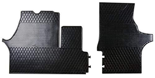 Wielganizator Juego de alfombrillas de goma con borde protector para Mercedes Vito I W638 1996-2003 (2 unidades), color negro