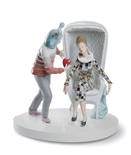 LLADRÓ Figura Pareja The Love Explosion. Figura Pareja de Porcelana.