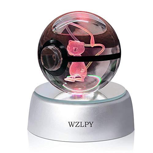 WZLPY 3D Kristall-Ball, LED-Nachtlicht für zum Beispiel Kinder oder als Geschenk, 50 mm große Kristallkugel mit automatischer Farbveränderung Modern Meww