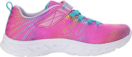 Skechers Girls' LITEBEAMS-GLEAM N'DREAM Trainers, Neon Pink/Multi Npmt), 1.5 (34 EU)