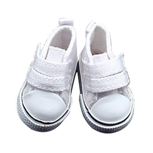 babysbreath17 1 Zapatos de Lona muñeca Par 5 cm seakers muñeca de Juguete Calzado Deportivo Zapatillas de Tenis para niños Juguetes del Regalo Blanco 5 * 2.6cm