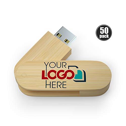Possibox Holz Twister Personalisiert USB Stick 2GB Bedruckte mit Ihrem Logo/Text - Großhandel - USB 2.0 Bambus 50 Stück