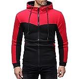 XDJSD Sweatshirt Herren Pullover Jacke Herren Sport Pullover Jacke Herren Slim Zipper Cardigan...