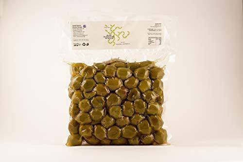 Olive Verdi Schiacciate Nocellara del Belìce con olio 500g