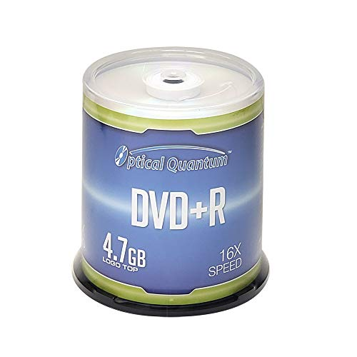 Optical Quantum DVD+R 4.7GB 16x Recordable Media Disc - 100 Spindle (FFP) OQDPR16LT-BX