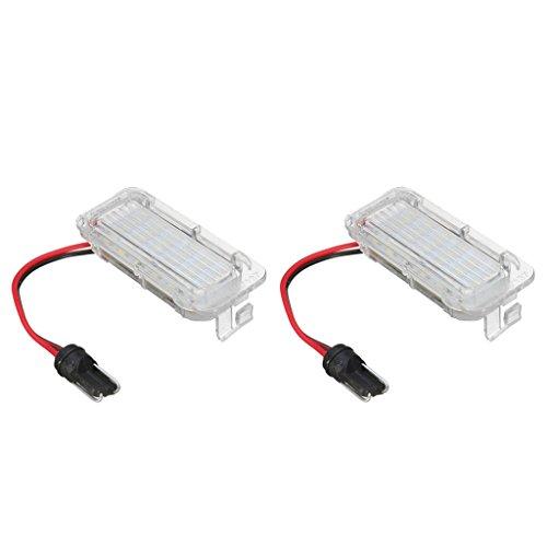IPOTCH 2 Luces Blancas de 18 LED para Matrícula para Focus 5D 2009-on