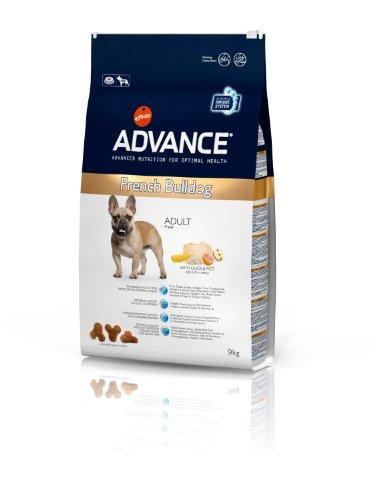 Advance French Bulldog Adult, Comida para perros, carrera de Bulldog francés adulto, 9Kg