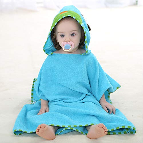 HUACHEN-LS Your Best Choice of Bathroom Supplies Extra Soft Bamboo Hooded Bathrobe for Kids 0-6 Year Super Absorbent and Hypoallergenic Bring You a Comfortable Lifestyle (Color : Dog)