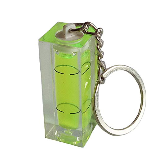 Vektenxi Mini-Wasserwaage Keyring Keychain Werkzeug DIY Gadget Neuheit Geschenk Mini-Wasserwaage 2 Pack Hohe Qualität