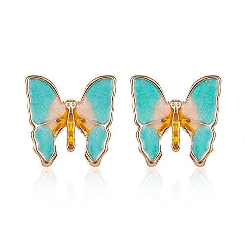 xuebixu Pendientes de mariposa retro gradiente para mujer, elegantes pendientes de ala