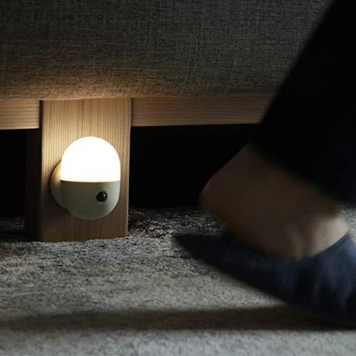 YanBei LED Nachtlicht mit Bewegungsmelder, LED Bewegungssensor Licht,Kinder Baby Nachtlampe,USB Aufladbare Nachtlampe,Für Flur,Schrank,Treppenhaus,Kabinett, Wohnzimmer,Badezimmer,Schlafzimme. (Grau)
