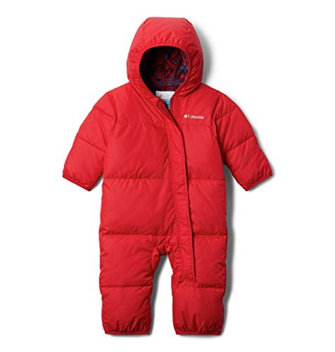 Columbia Kids' Baby Boys Snuggly Bunny Bunting, Mountain Red, 12-18 Months